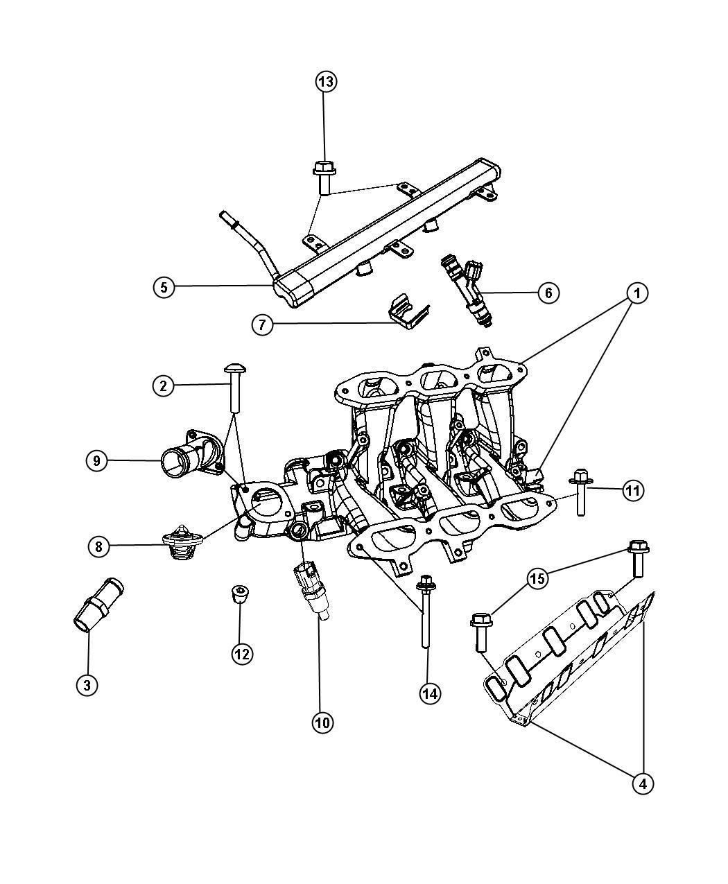 Dodge Grand Caravan Rail Fuel Intake Manifold