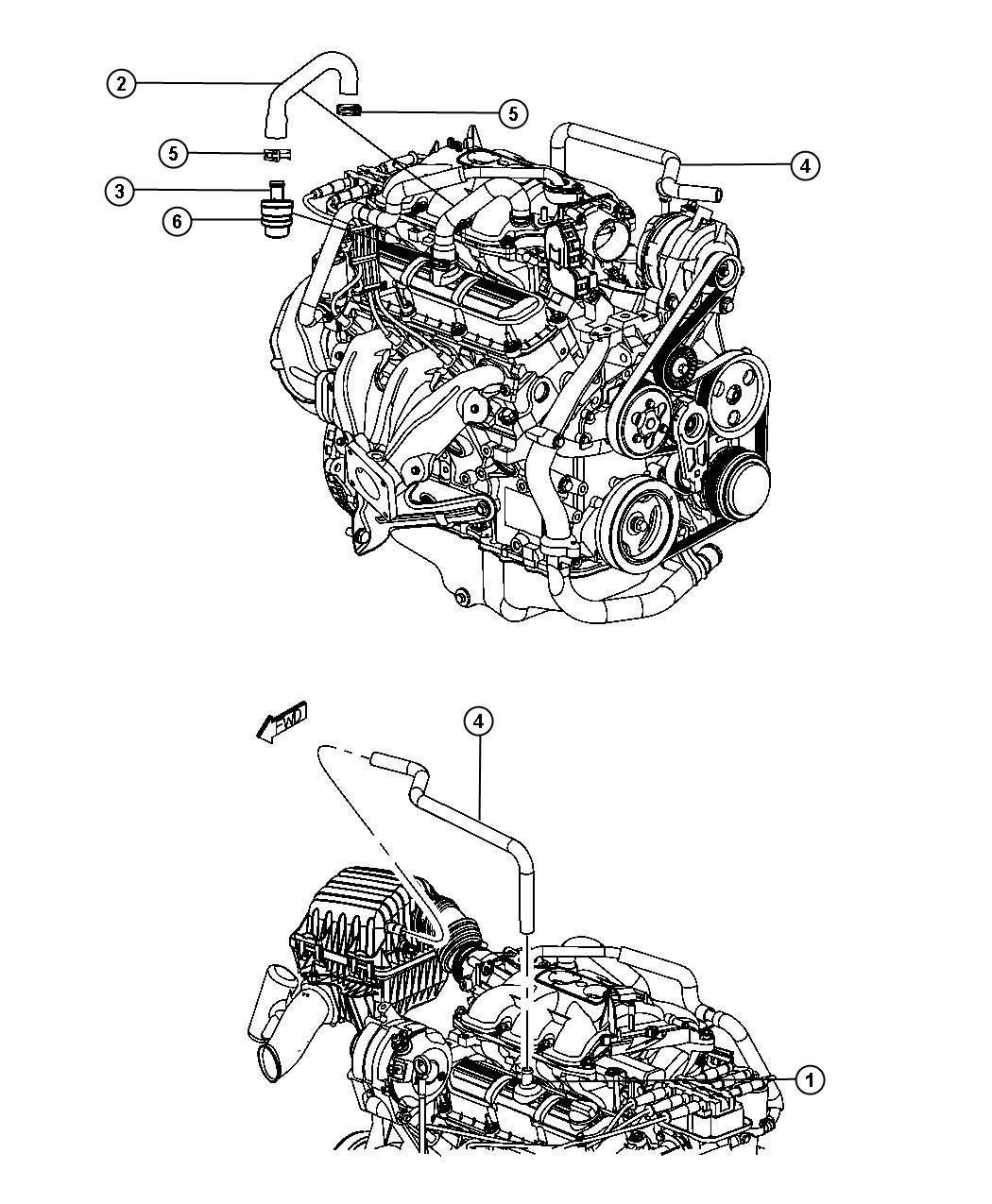 Chrysler Pacifica Valve Pcv Engine Ohv Ventilation