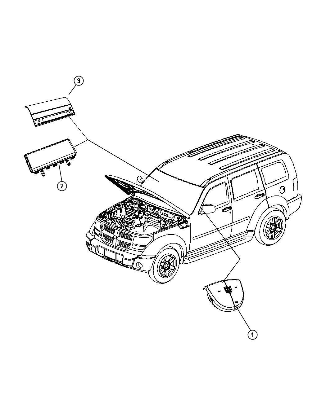 Dodge Nitro Air Bag Module Air Bag Control