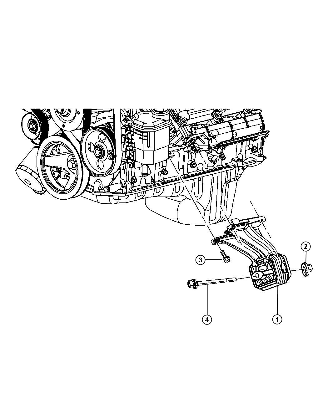 Dodge Ram Insulator Left Engine Mount Mounting Mounts Side