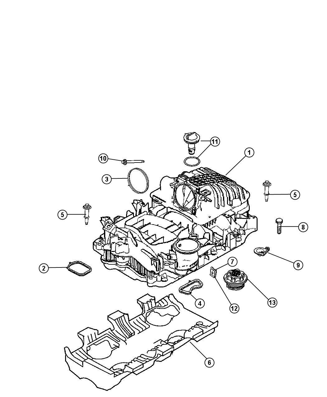 Dodge Ram Bolt Screw Hex Flange Head M6x1 00x48 00