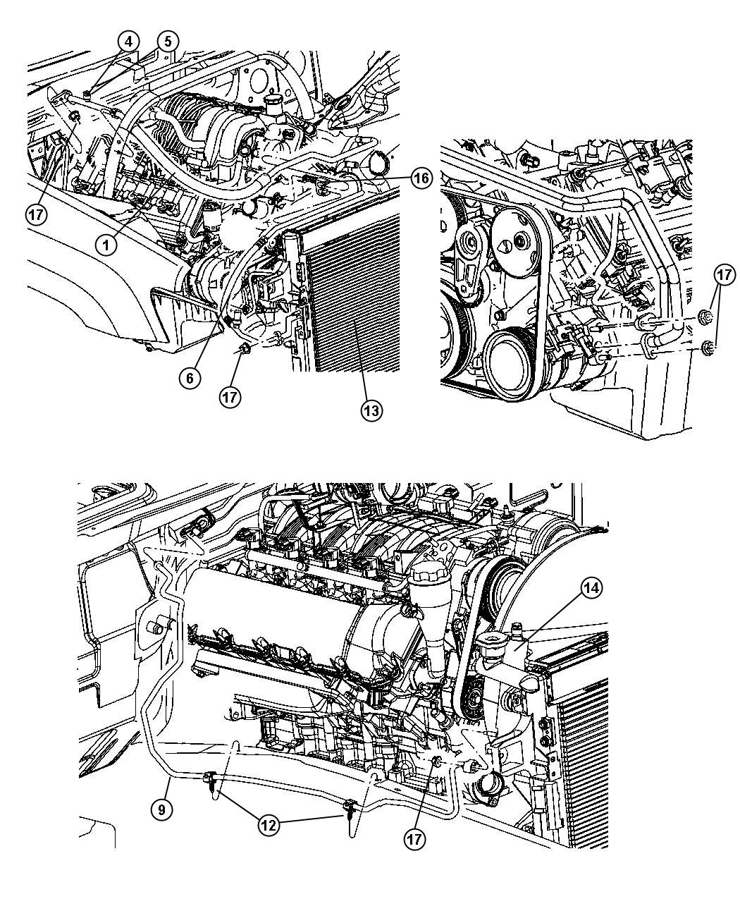 Dodge Challenger Line A C Suction Engine Rear