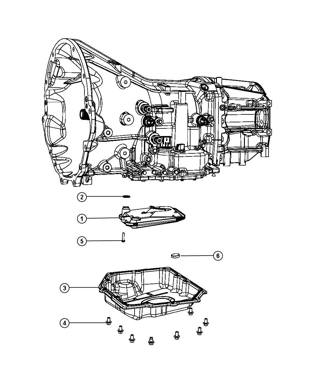 Dodge Caliber Filter Kit Transmission Oil Use Only With