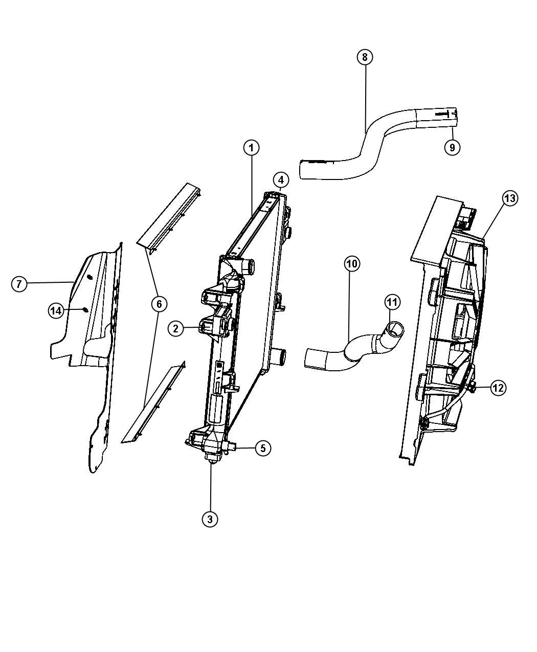 Jeep Grand Cherokee Hose Radiator Inlet Related