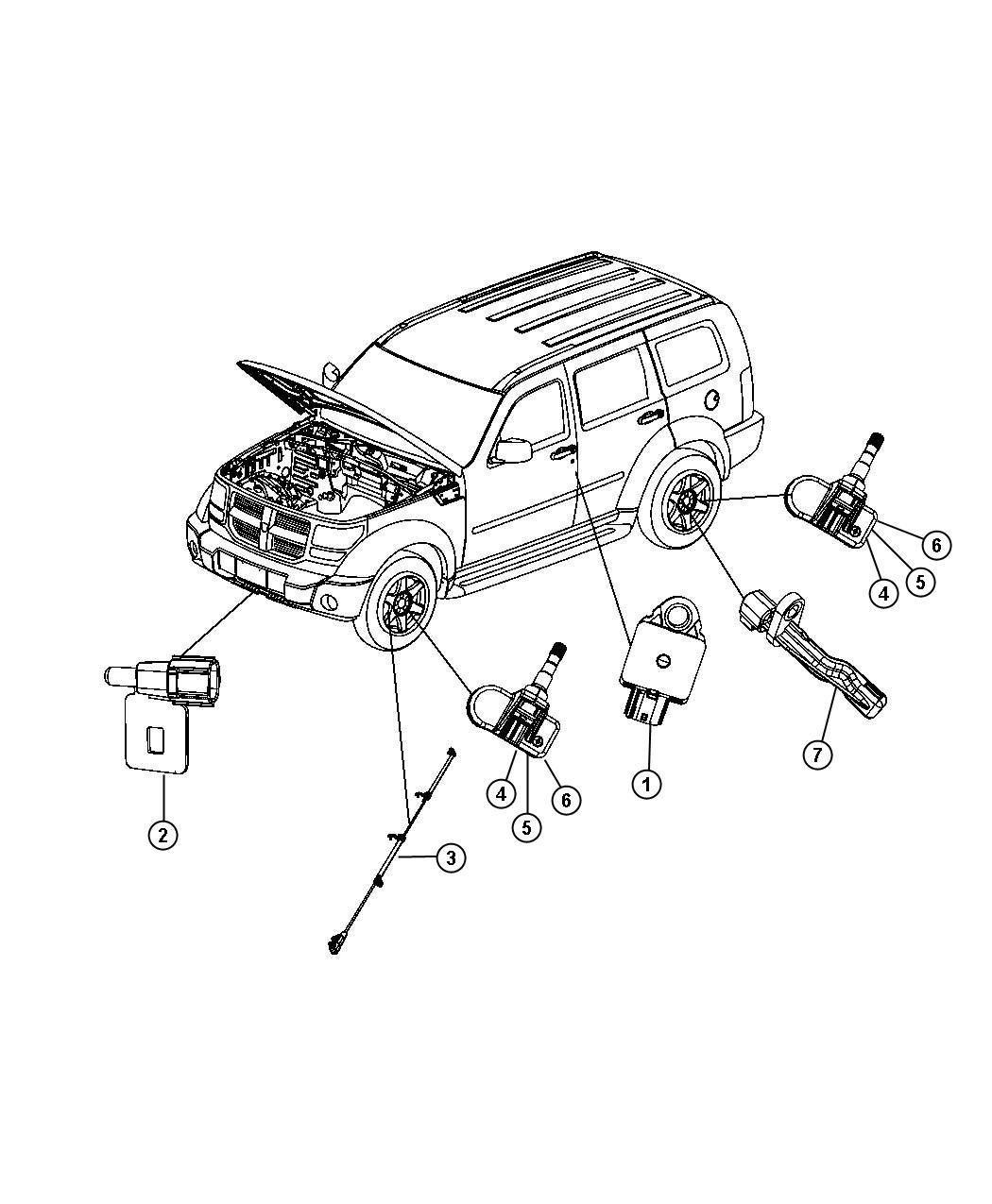 Dodge Nitro Sensor Kit Anti Lock Brakes Front