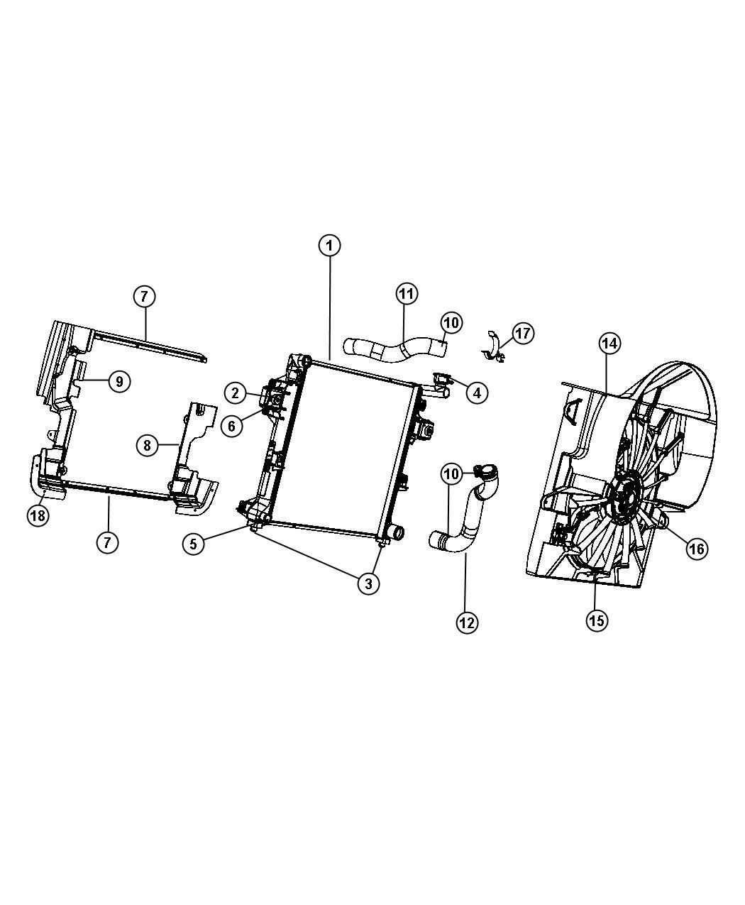 Chrysler 200 Fan Module Used For Fan And Motor Assy