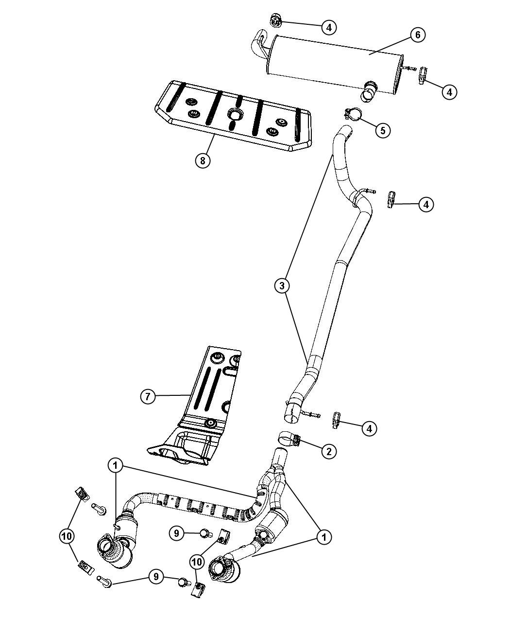 Jeep Wrangler Converter Exhaust System