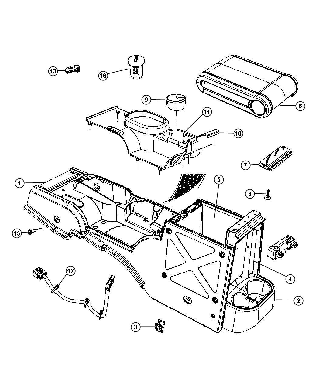 Jeep Wrangler Plug Floor Console Trim All Trim