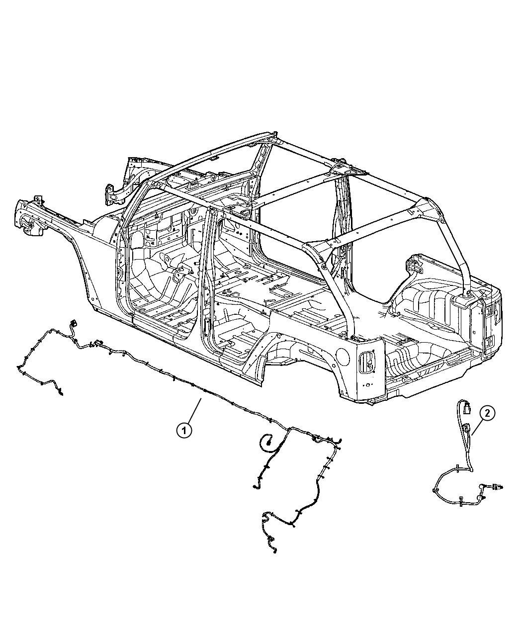 Jeep Wrangler Wiring Chassis Front Rear Bar