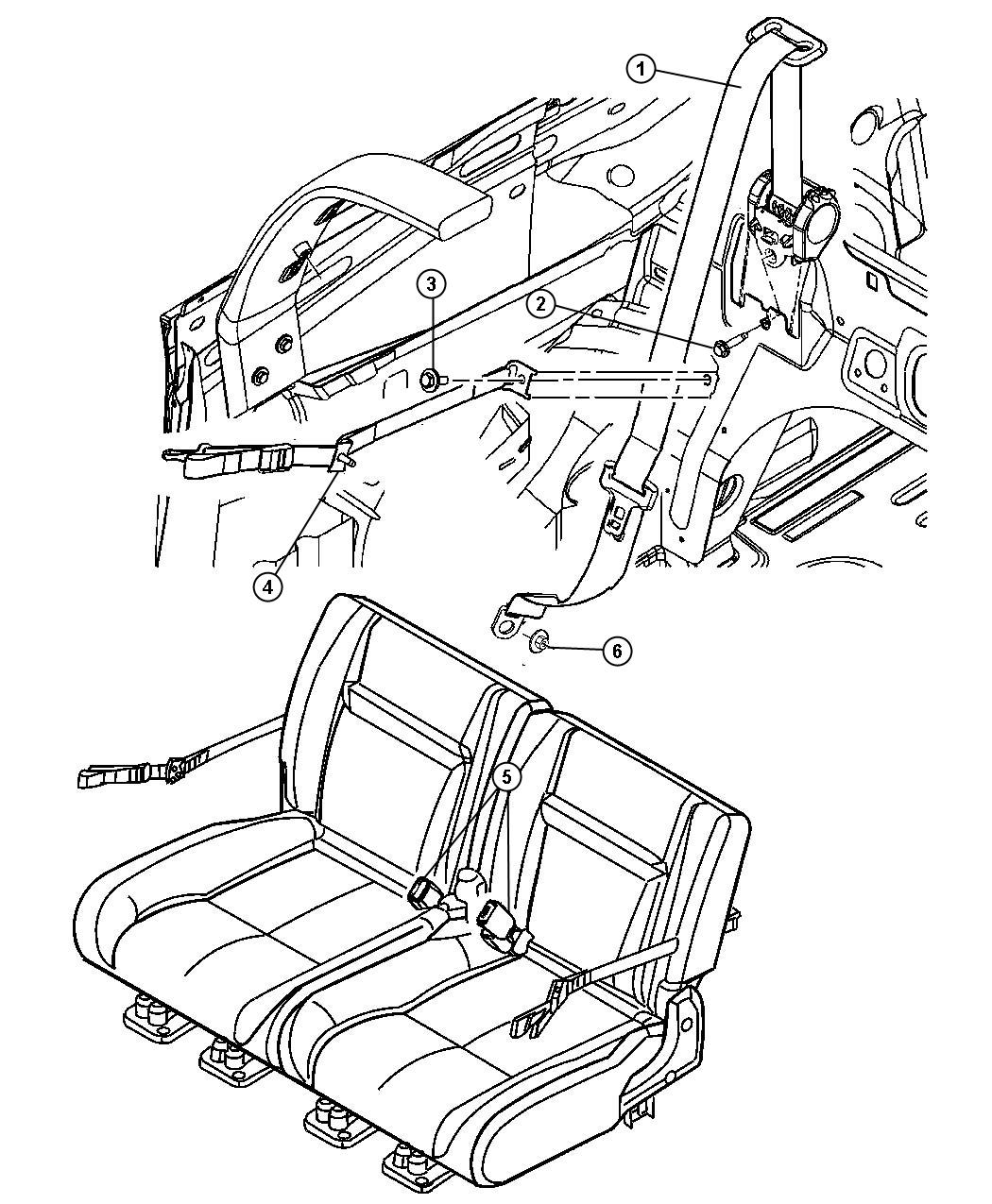 chrysler pt cruiser seat belt rear da trim