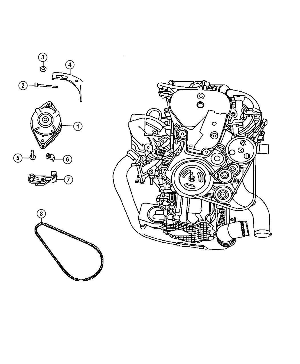 Chrysler Pt Cruiser Generator Engine Remanufactured