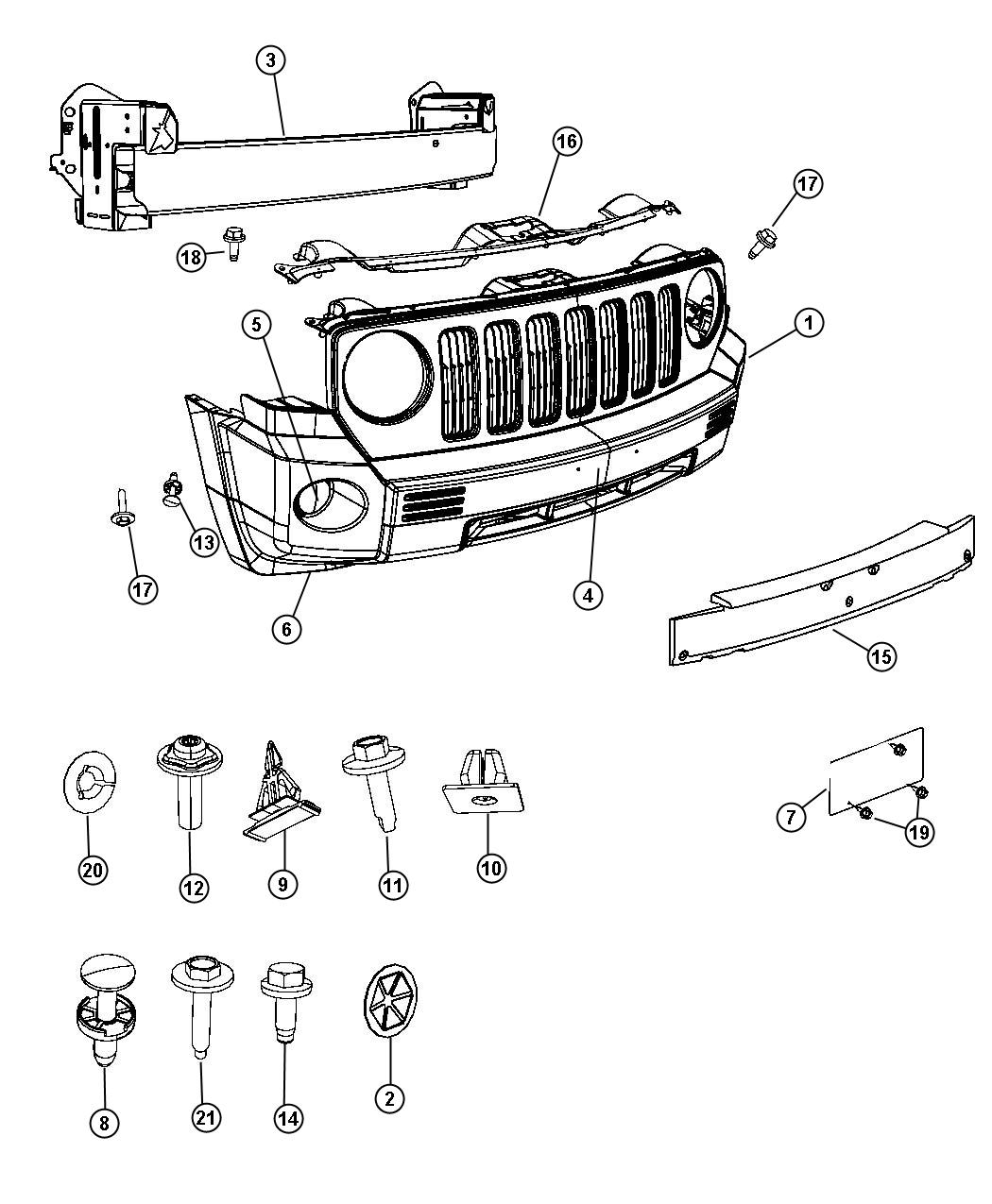 Jeep Patriot Panel Closeout Export Color Body