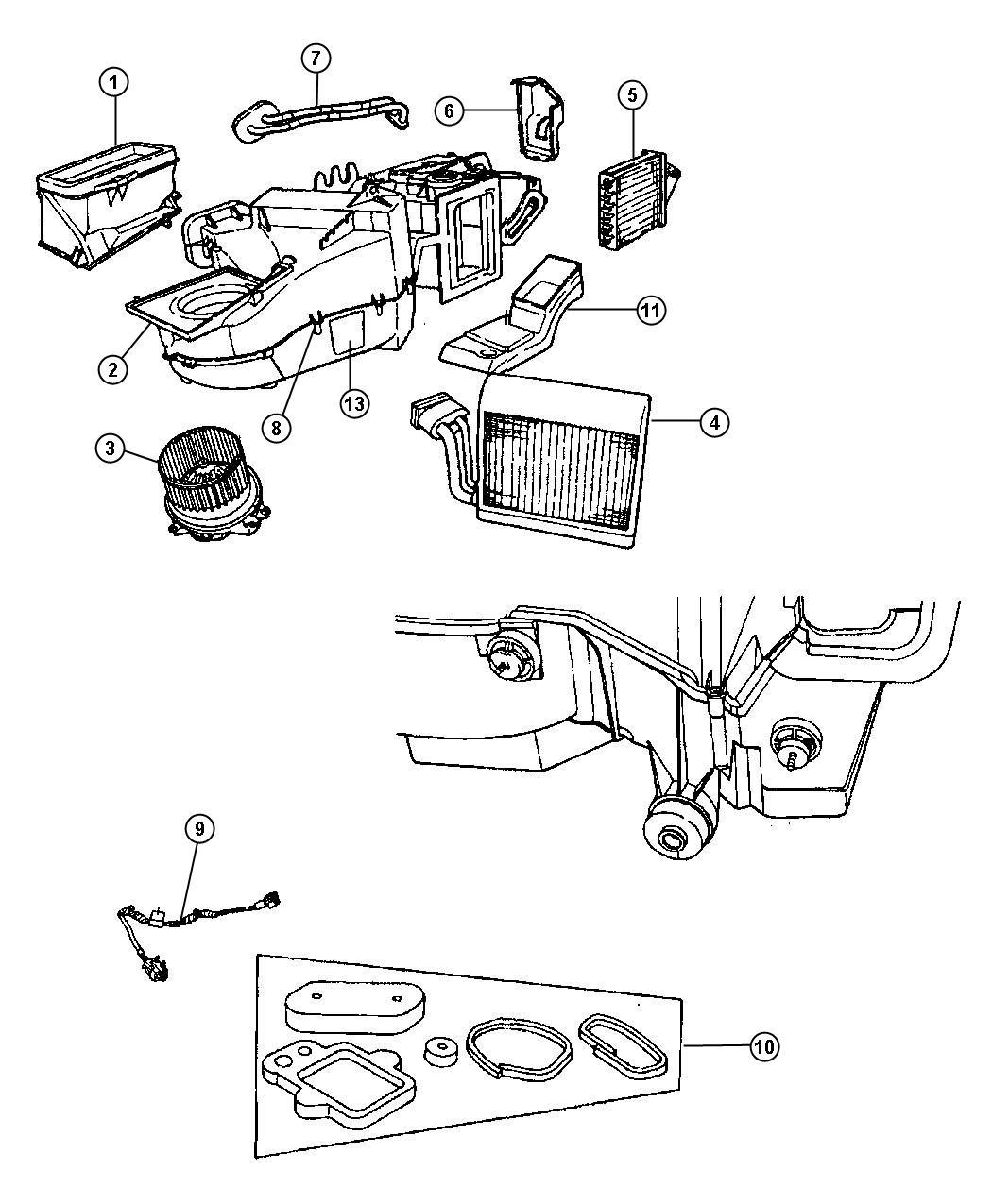 Chrysler Pt Cruiser Core Heater Air Conditioning