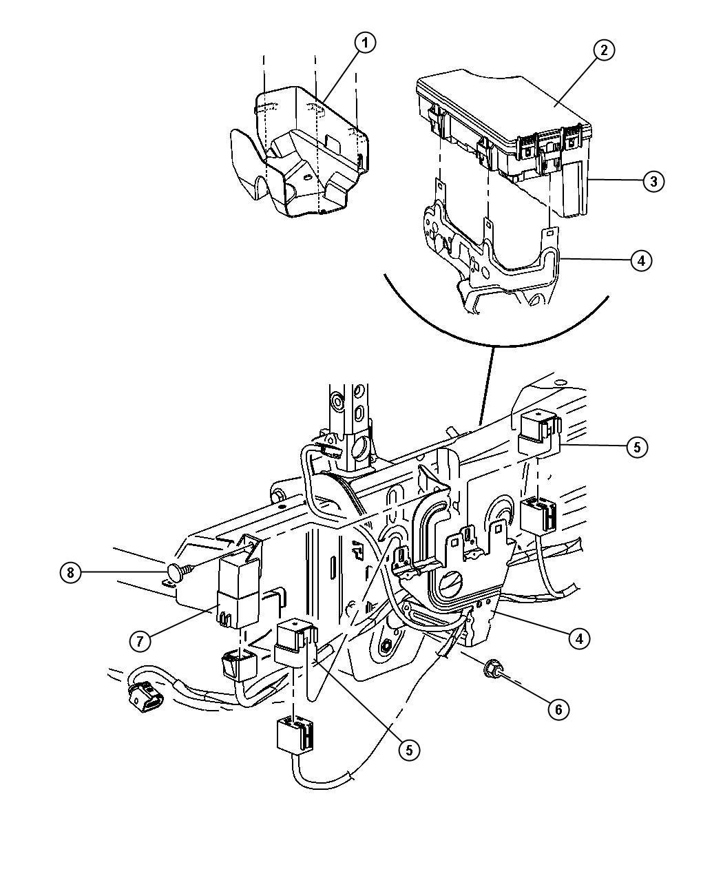 Jeep Compass Module Glow Plug Modules Compartment Engine