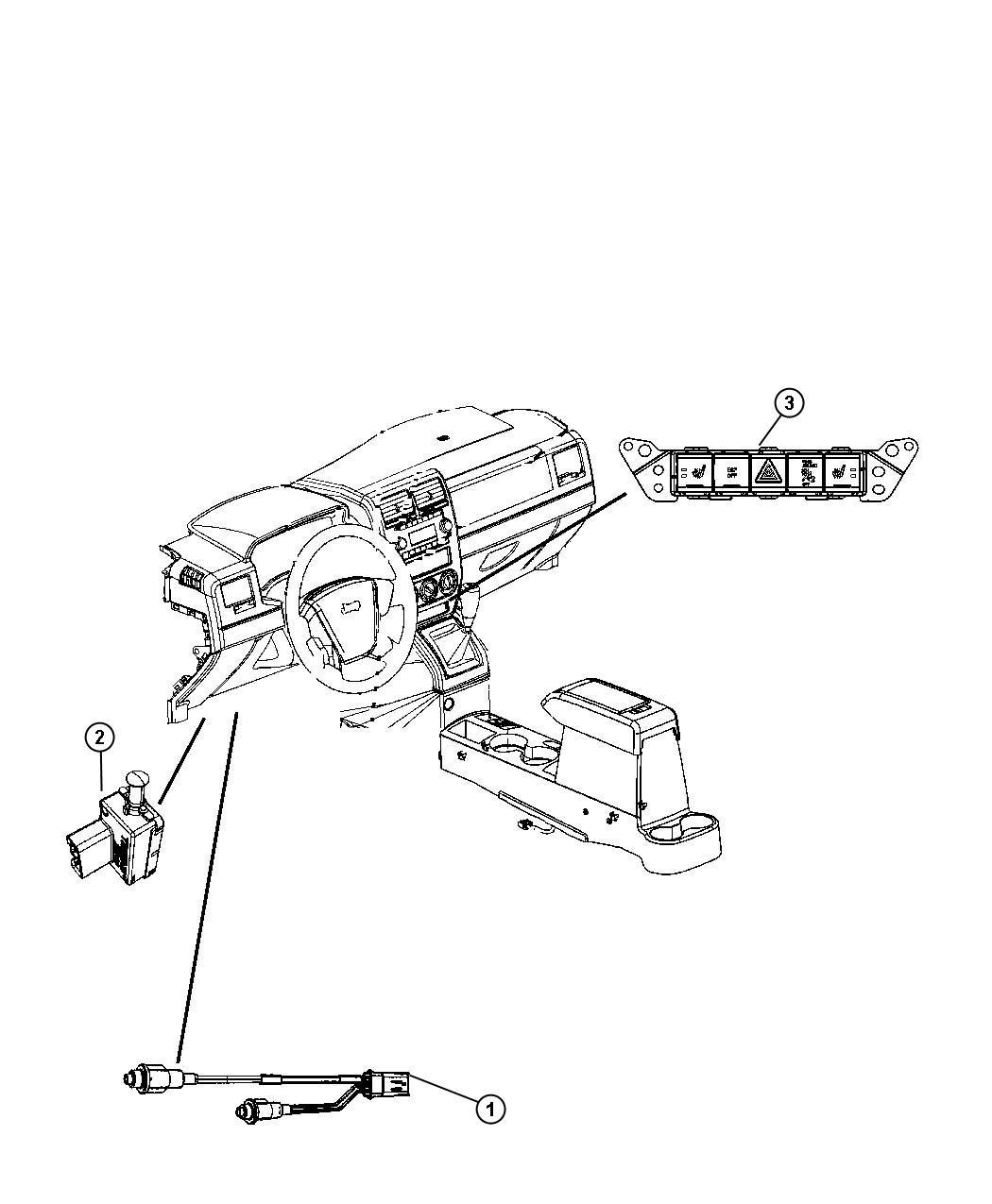 Jeep Compass Switch Pod Jkl Instrument Panel