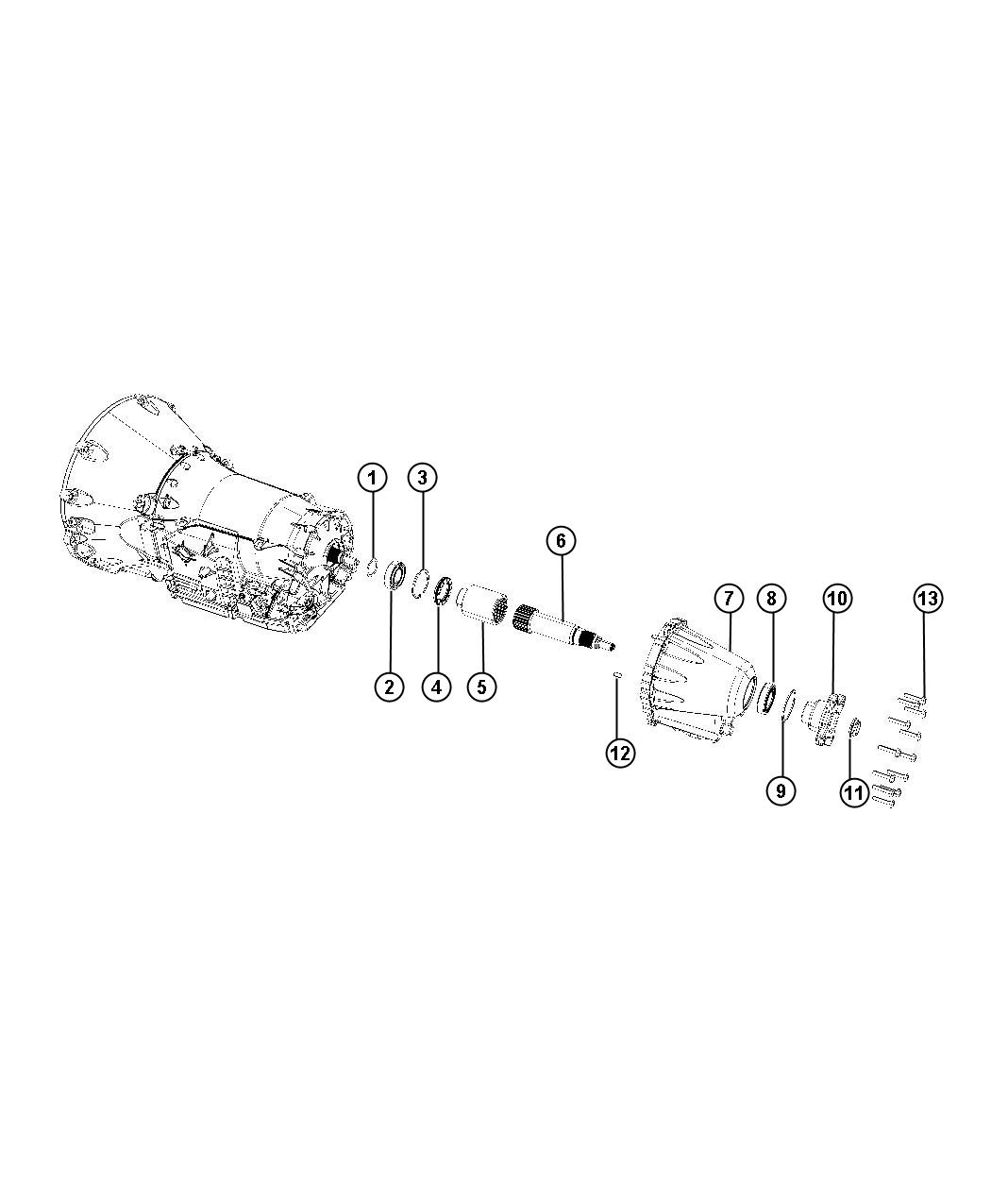 Jeep Grand Cherokee Flange Output Transmission