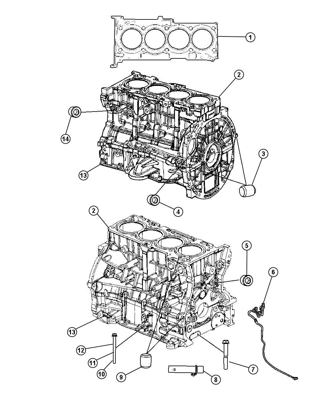 Jeep Patriot Engine Long Block Remanufactured