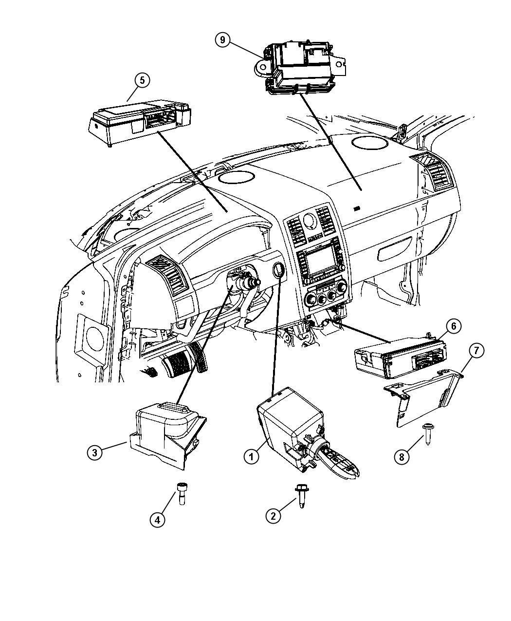 Chrysler 300 Module Steering Control Sau Tilt