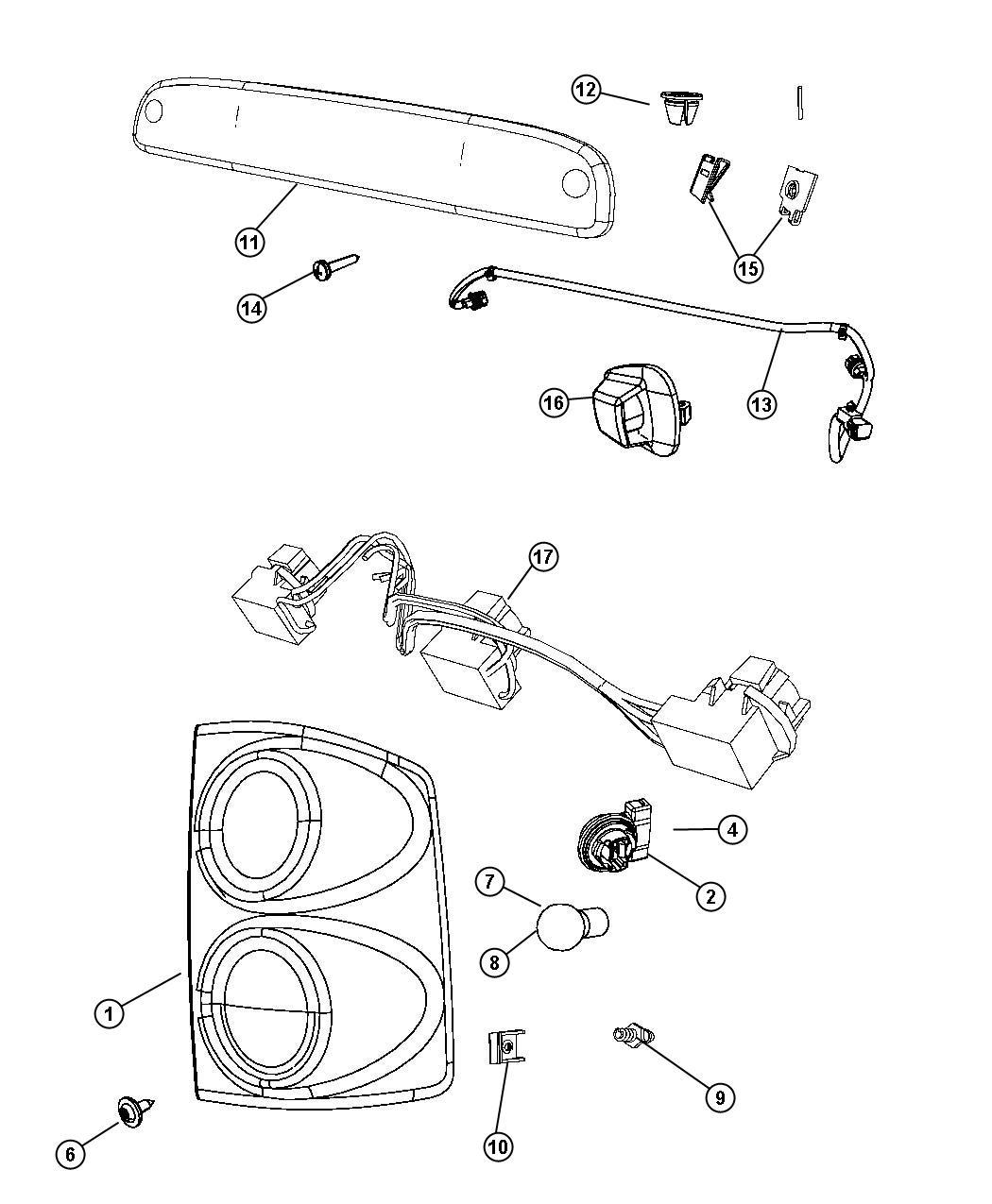 Dodge Dakota Socket Used For Park Turn And Side Lamp Tail Lamp Socket