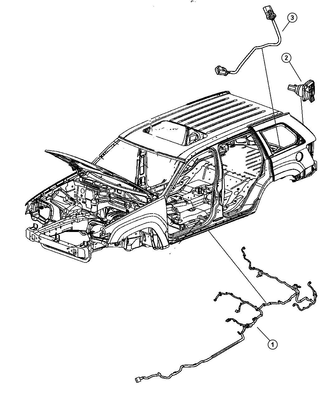 Jeep Grand Cherokee Wiring Underbody Xgm Tow Dhx
