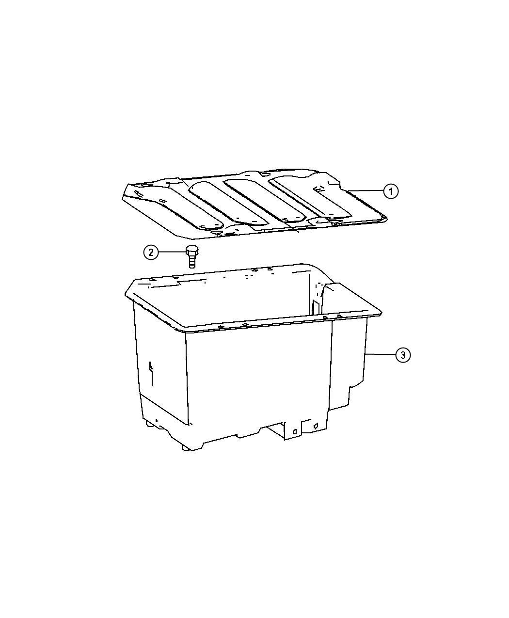 Dodge Sprinter Cover Battery Cover Tray