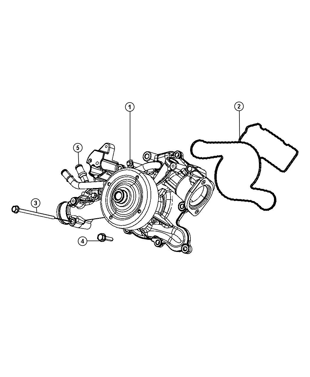 Jeep Compass Pump Water With Heater Tube Engine