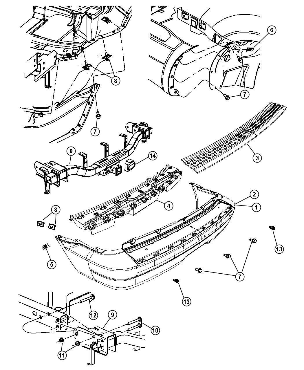 Dodge Durango Rear Bumper Parts Diagram Dodge Auto