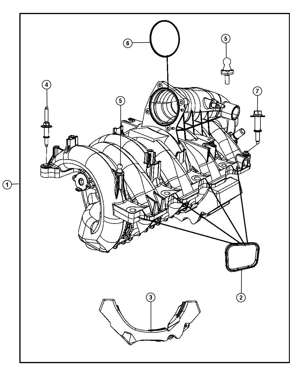 Jeep Commander Manifold Engine Intake Crew Cab