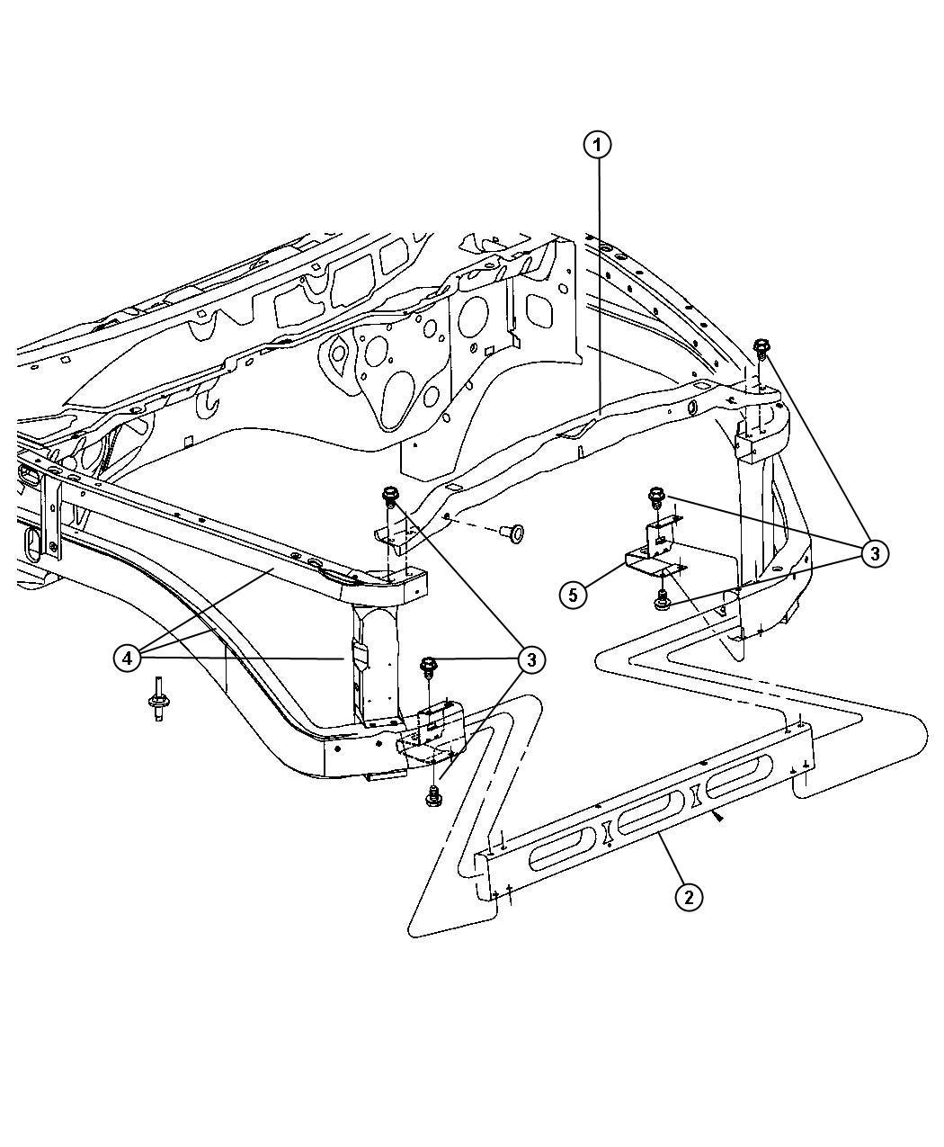 Dodge Ram Crossmember Radiator Lower Upper Srt
