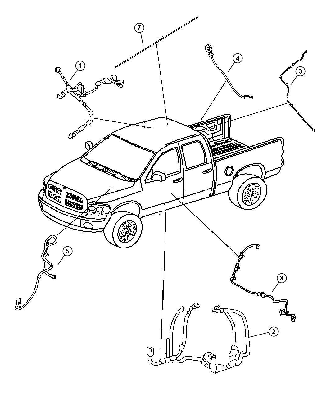 Dodge Ram Wiring Electric Back Light Rear