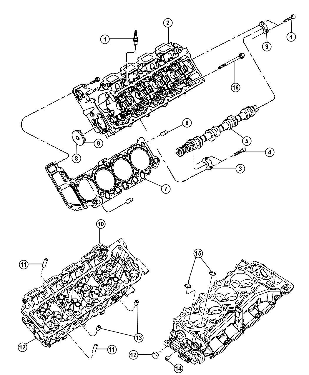 Chrysler Aspen Head Cylinder With Valves Right Side