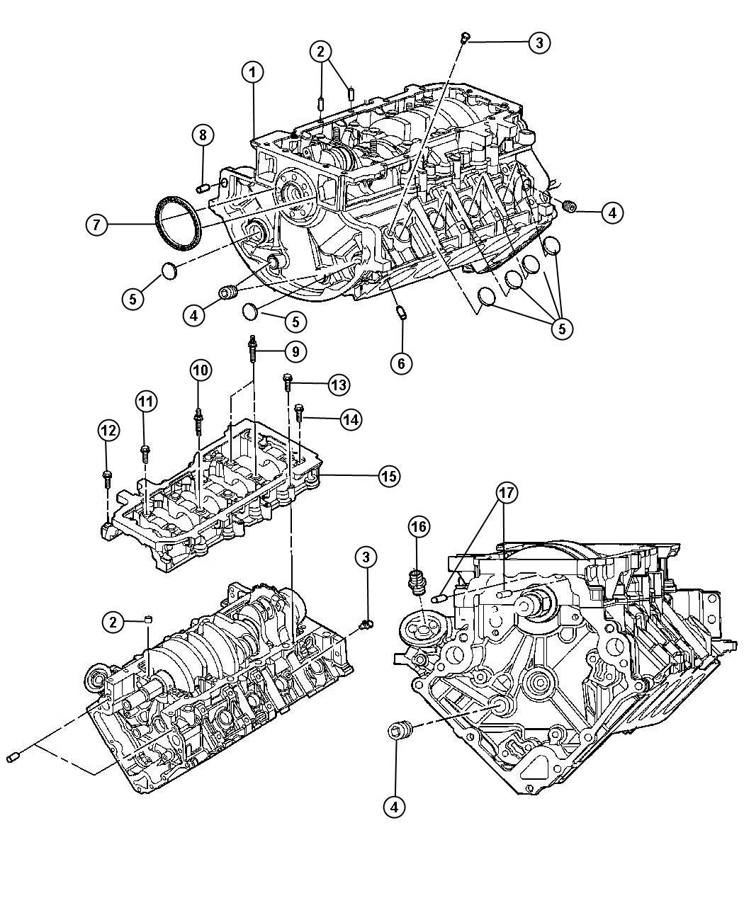 Chrysler Aspen Bolt Screw Hex Flange Head M10x1