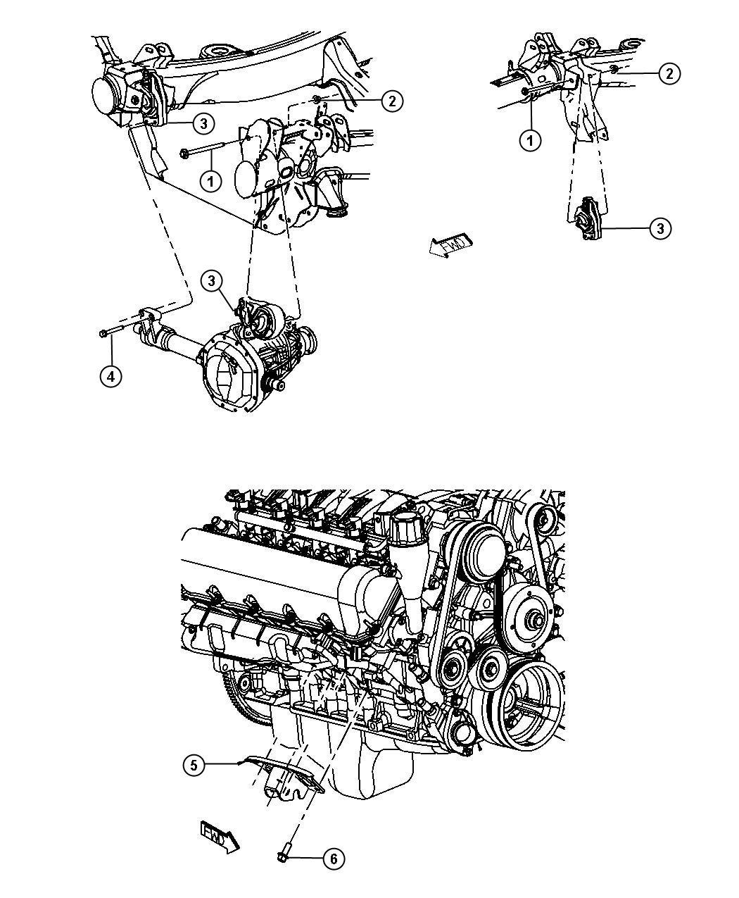 Chrysler 300 Bracket Engine Mount Front Right Right