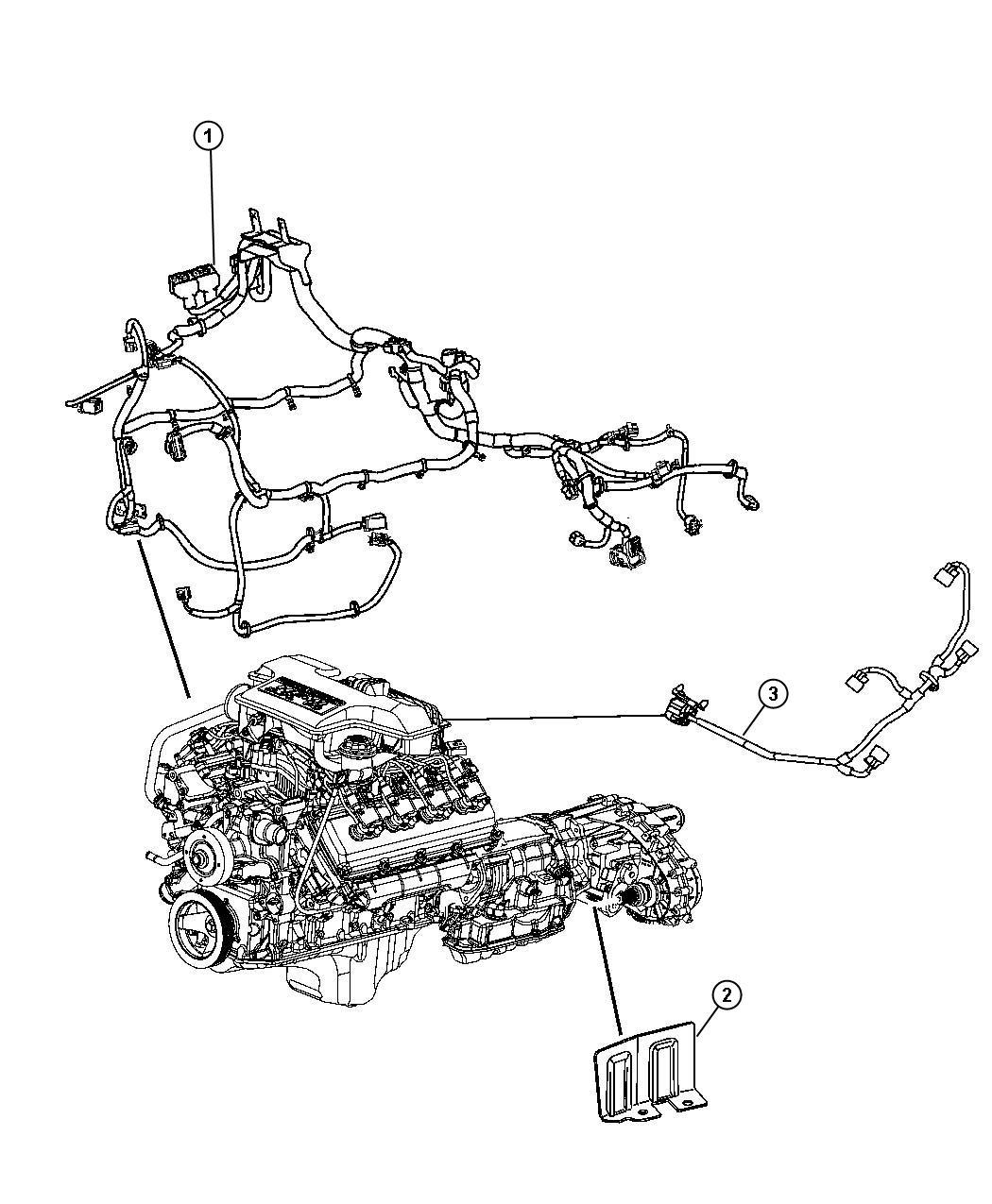 Chrysler 300 Wiring Jumper Multiple Displacement