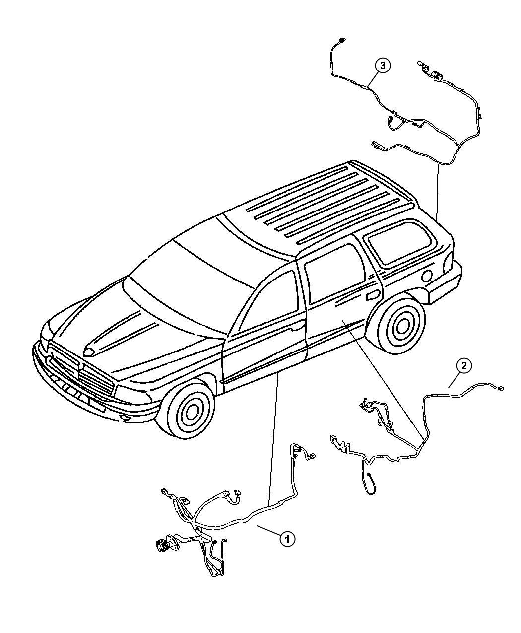 Chrysler Aspen Wiring Liftgate Rear Parkview Back