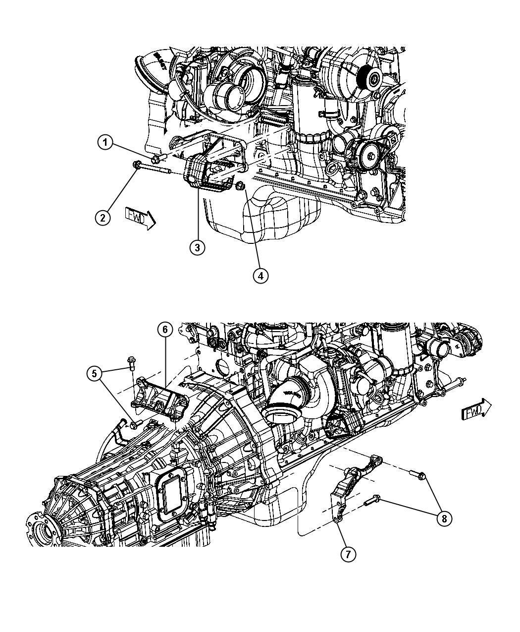 Dodge Ram Bracket Engine Mount Right Right