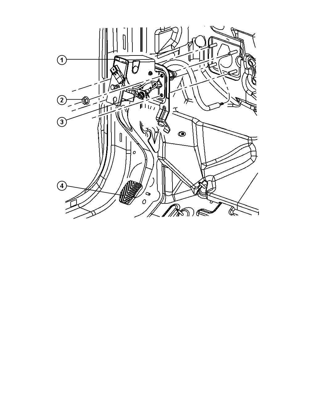 Dodge Caliber Pedal Clutch 5 Speed Manual T355