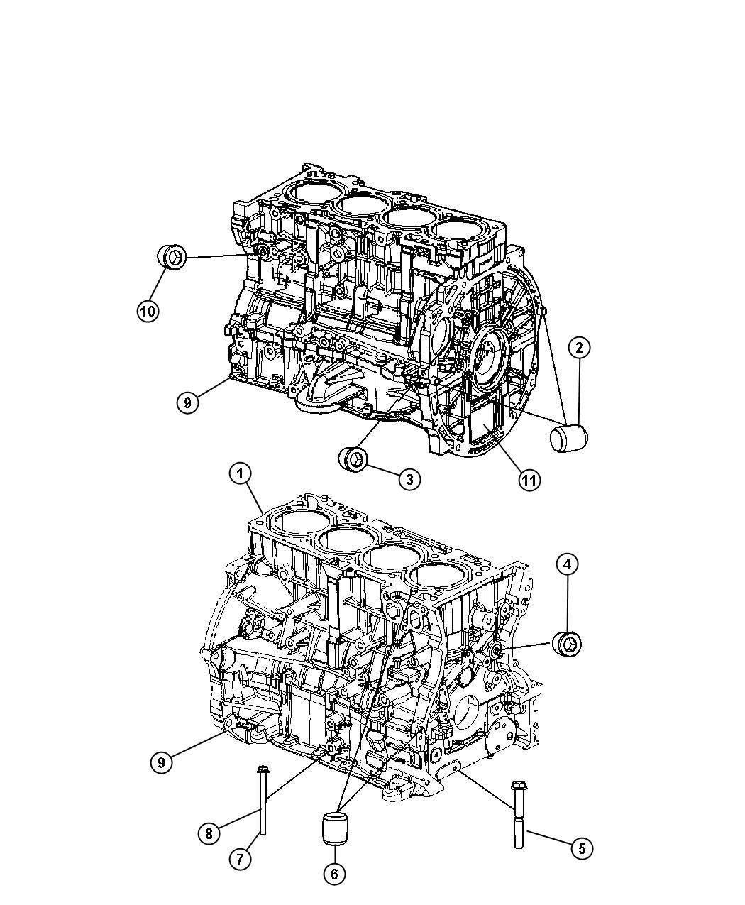 Dodge Caliber Engine Long Block New Part For Core Return