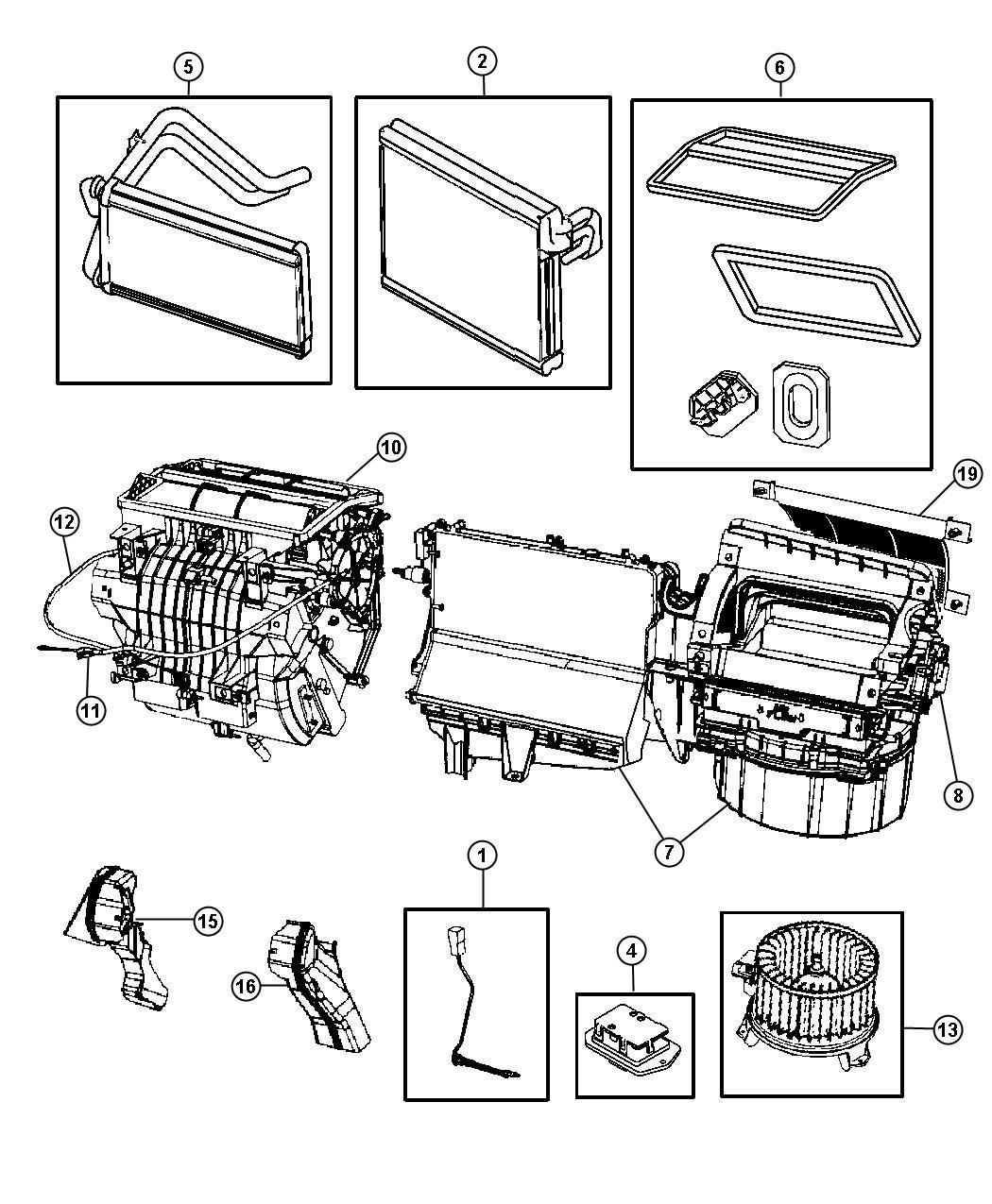 Dodge Caliber Cable Mode Temperature Control Unit