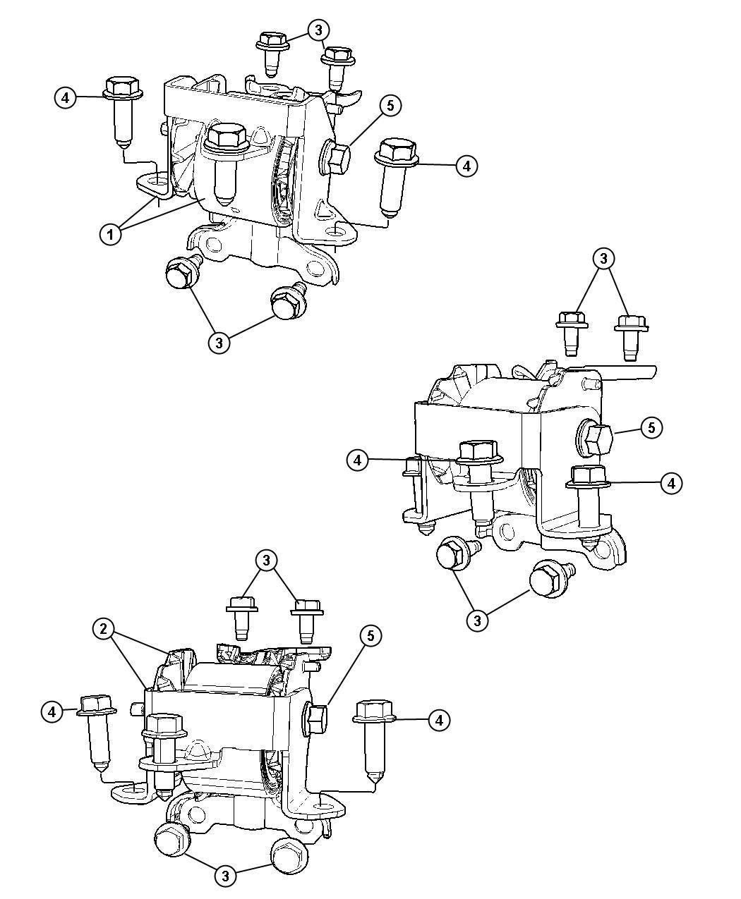 Dodge Caliber Insulator Engine Mount With 6 Speed