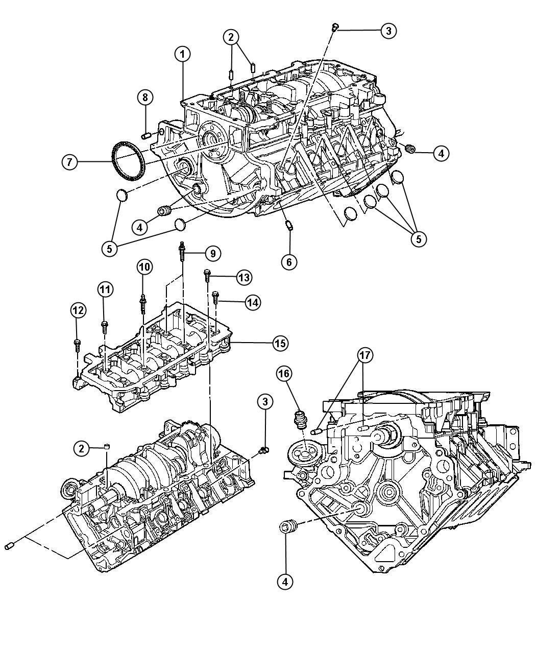 Dodge Dakota Engine Long Block Remanufactured Assembly