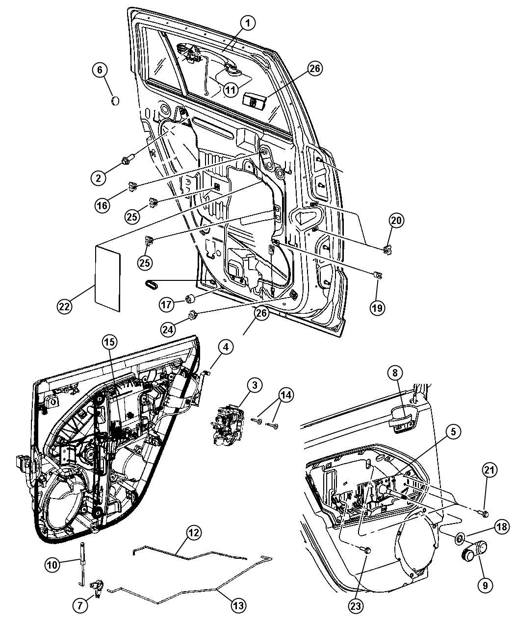 Service Manual Jeep Patriot Driver Door Latch Repair Diagram