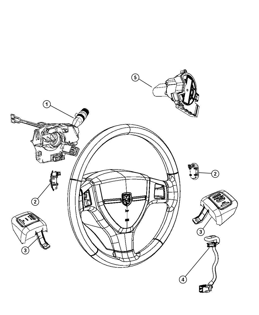 Dodge Dakota Wiring Steering Wheel Jumper Trim All