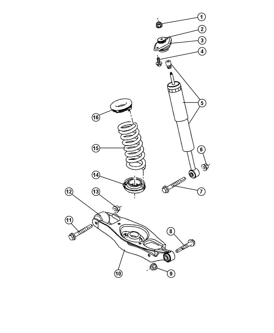 Chrysler 300 Shock Absorber Suspension Rear Sdc