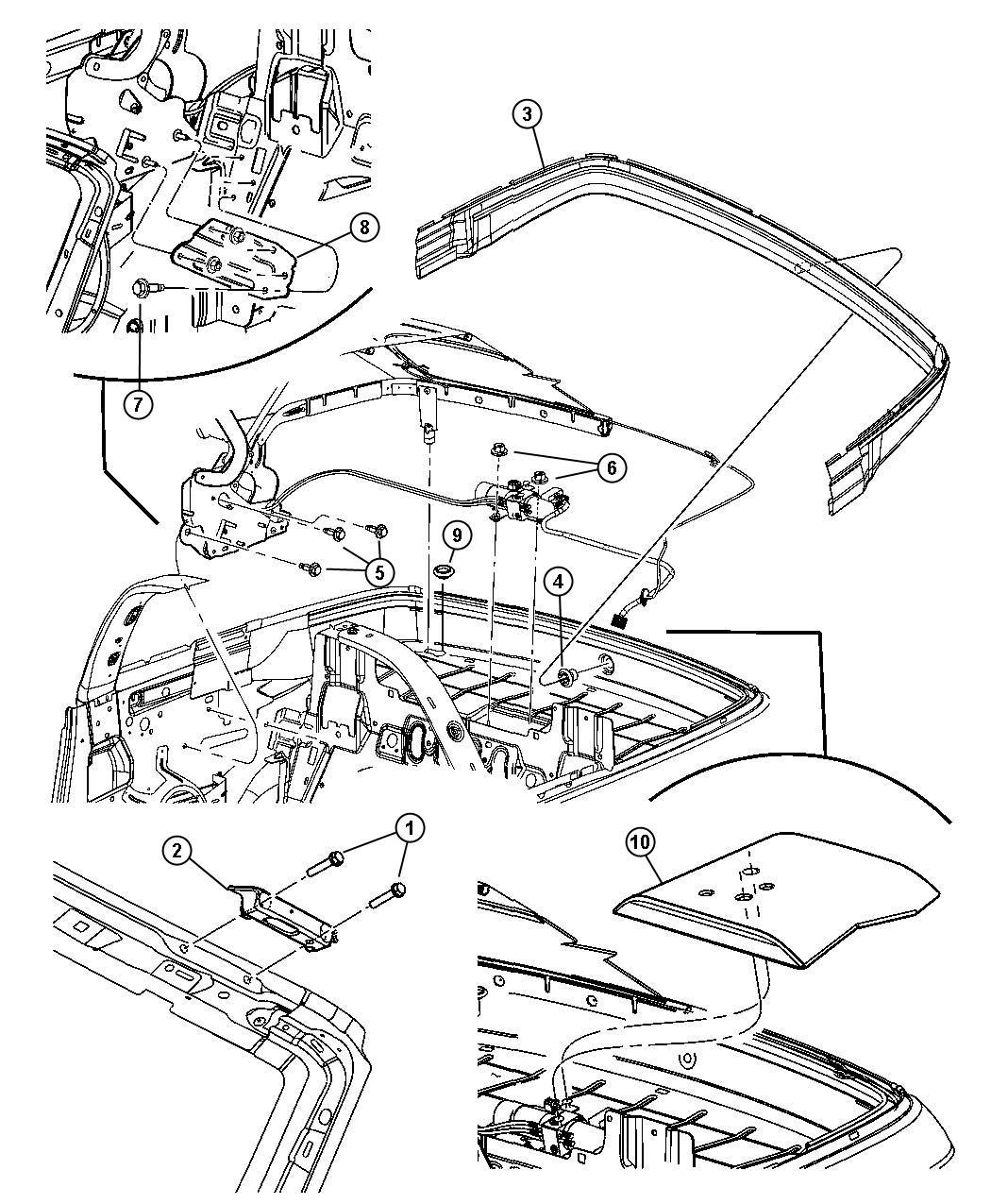 Dodge Ram Trough Folding Top Attaching Body