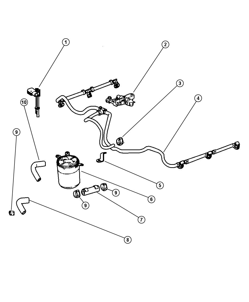 Dodge Sprinter Hose Fuel Lines Filter