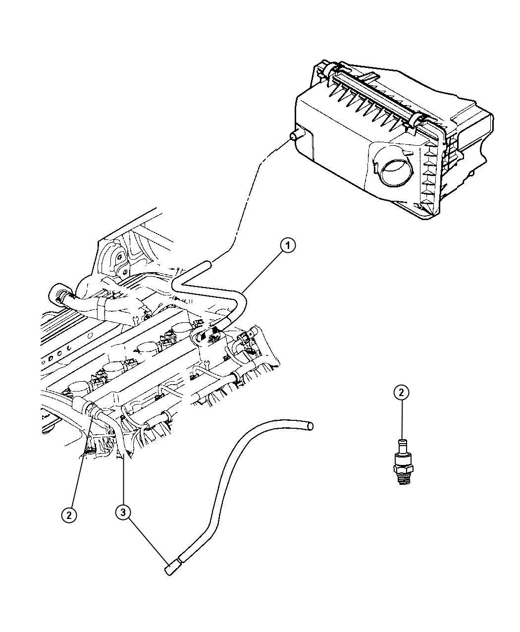 Dodge Avenger Hose Pcv Pcv Valve With 15mm Nipple