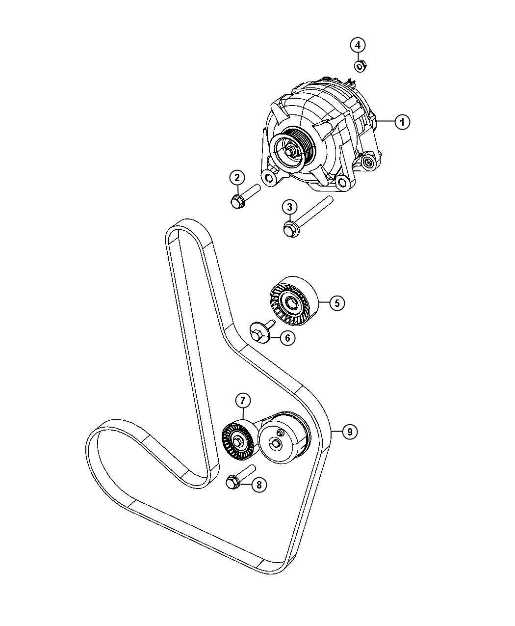 Dodge Avenger Generator Engine 140 Amp Alternator