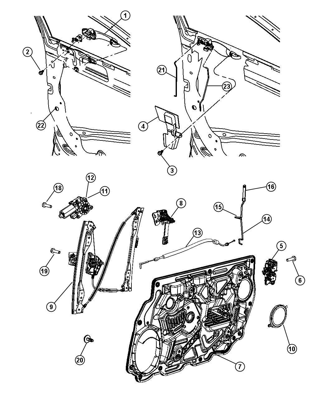 Dodge Avenger Latch Front Door Module Left