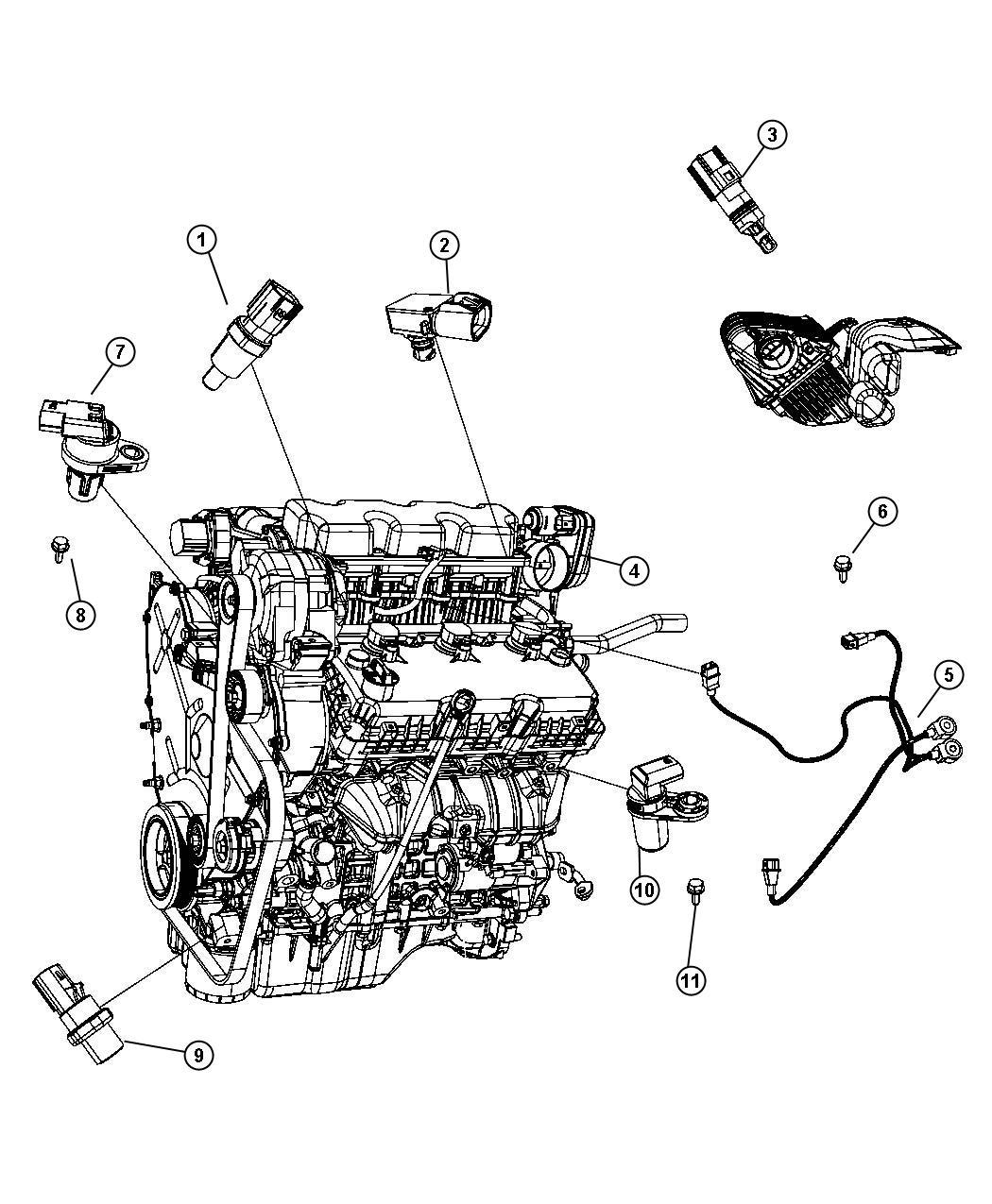 Dodge Avenger Sensor Camshaft Electronic Gas Actuator